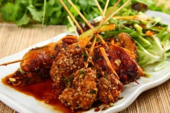 Csirkemell kínai pácban