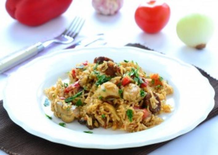Csirkés-kolbászos jambalaya