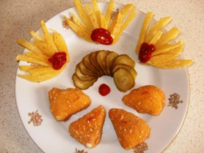 Fűszeres rántott sajt
