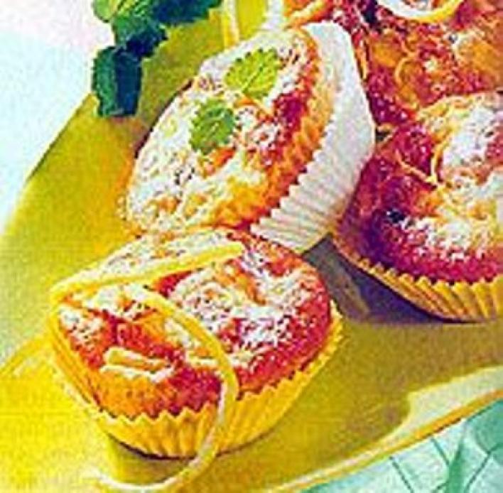 Almás muffin mazsolával
