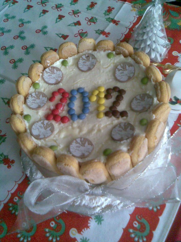 Újévi torta sütés nélkül