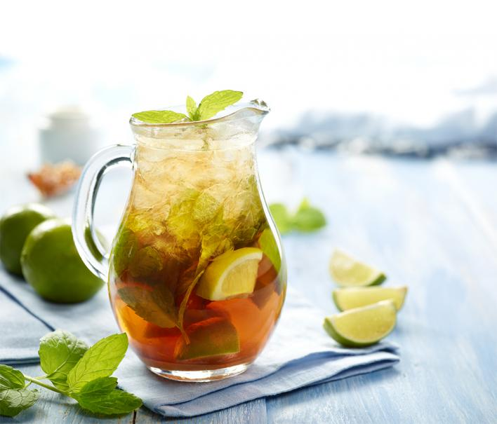 Menta-lime tea hidegen