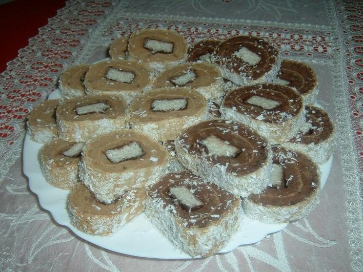 Kókuszcsokis keksz szalámi