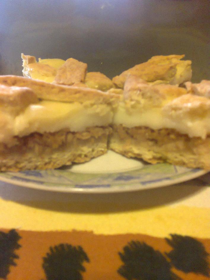 Almás-pudingos pite