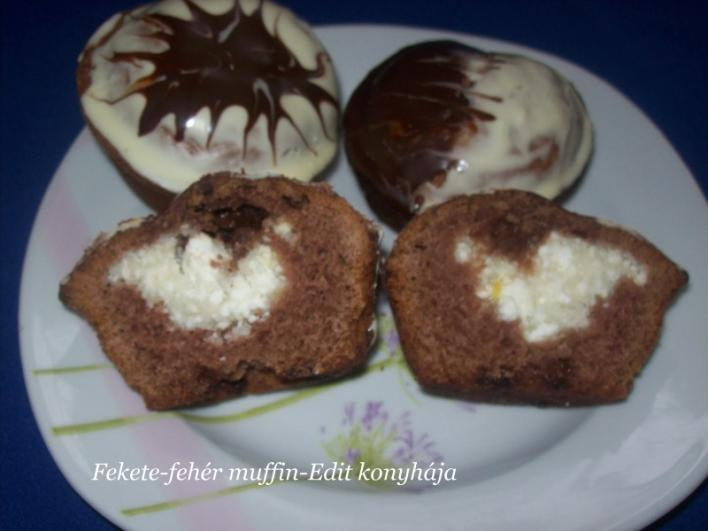 Fekete-fehér muffin