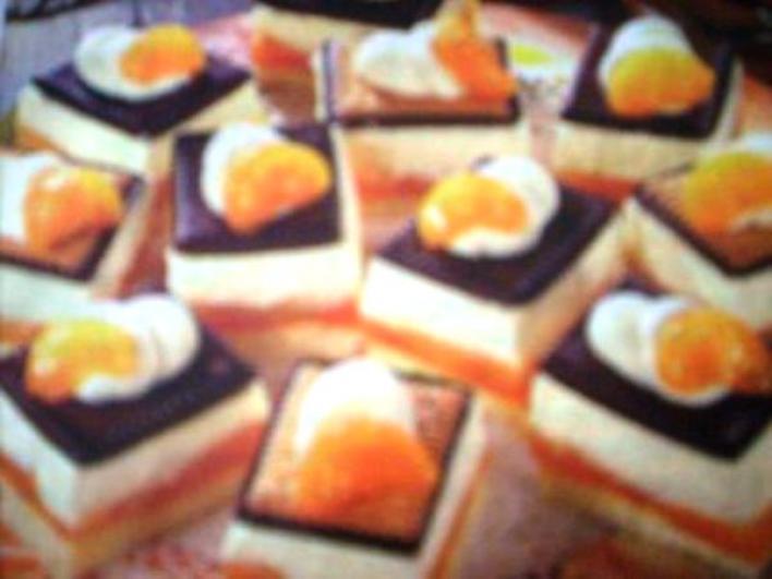 Mandarinos-kekszes szelet