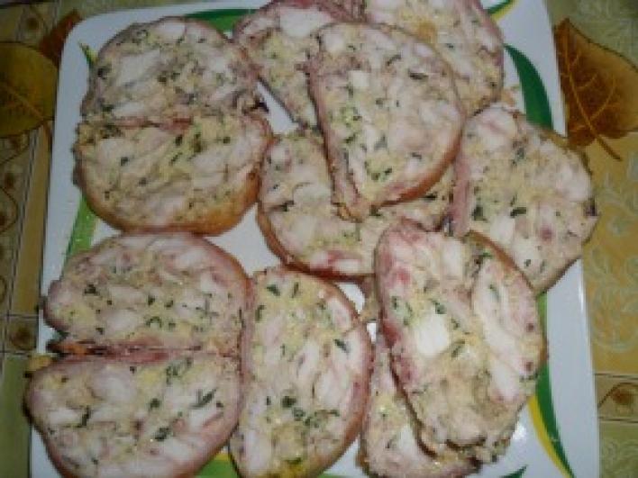 Baconös csirkemell őzgerincformában