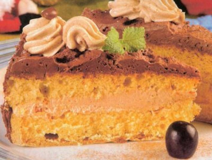 Csokoládés, karamelles torta