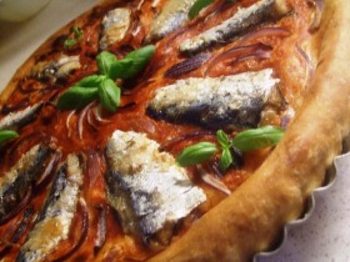 Szardíniás pizza