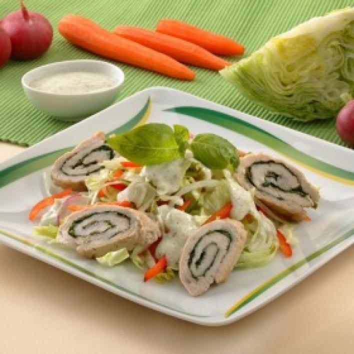 Pulykamell friss salátával