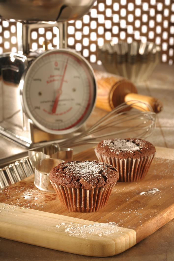 Málnás, csokoládés muffin