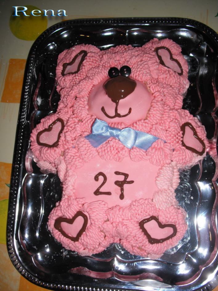 Plüssmaci torta