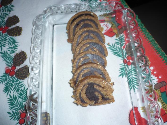 Csokis keksztekercs