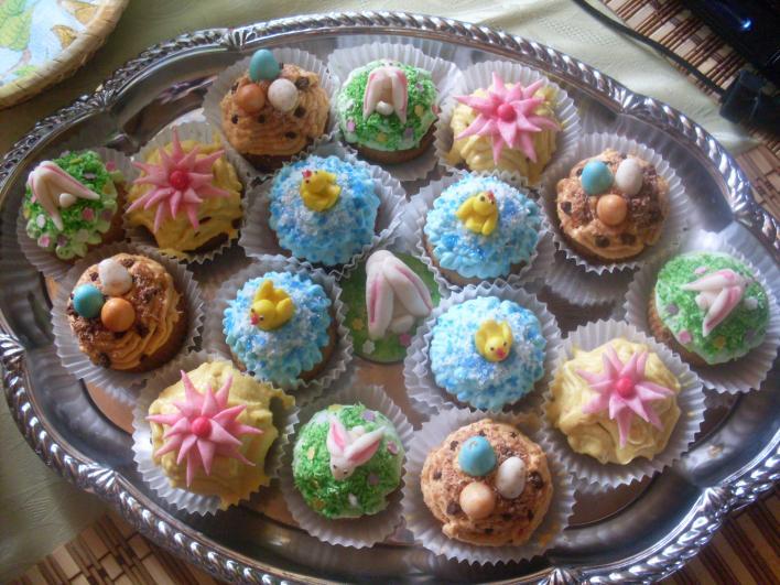 Gyömbéres húsvéti muffin