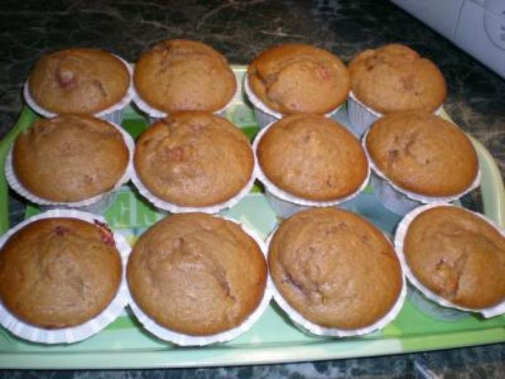 Részeges, barackos muffin