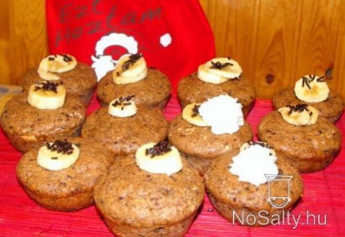 Gesztenyés-banános muffin