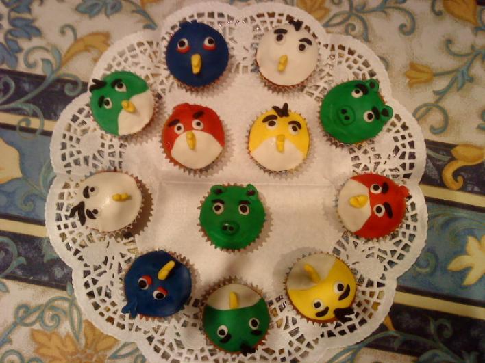 Angry Birds muffinok