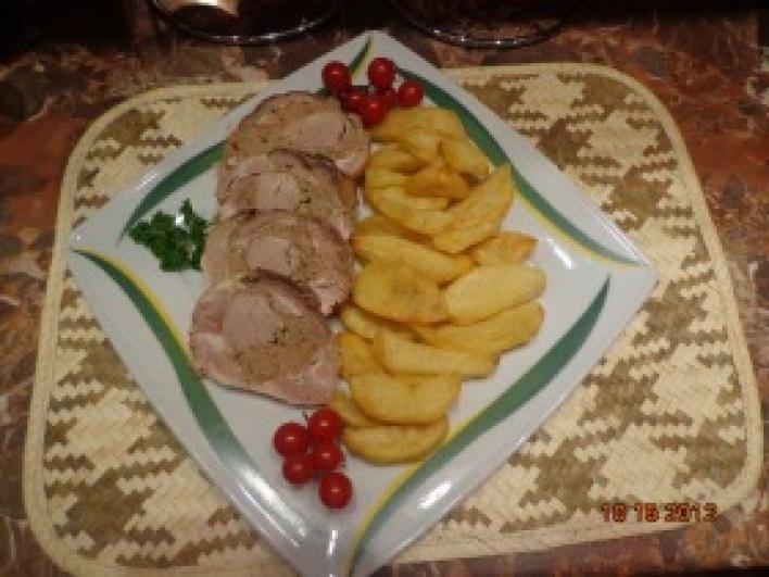 Dupla hússal töltött sertés dagadó