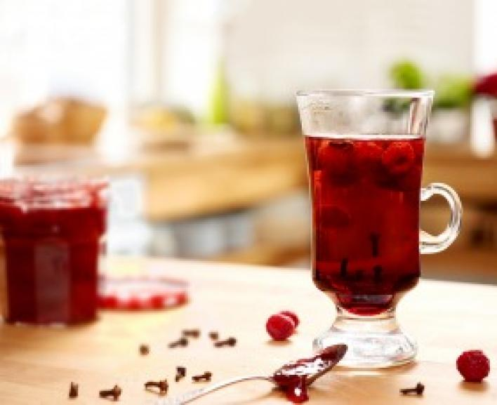 Málnás tea