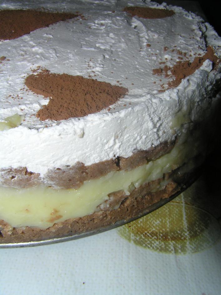 Kekszes, pudingos torta