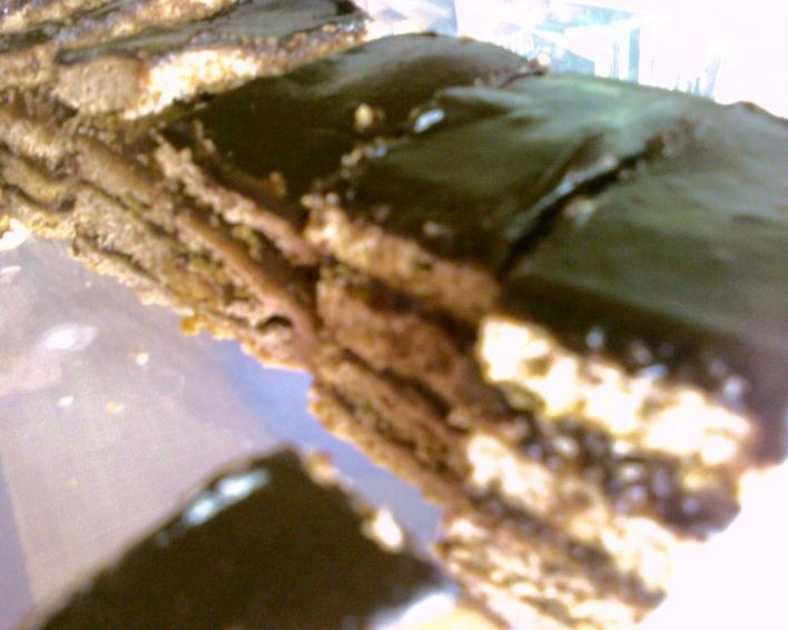 Csokoládés-rumos szelet