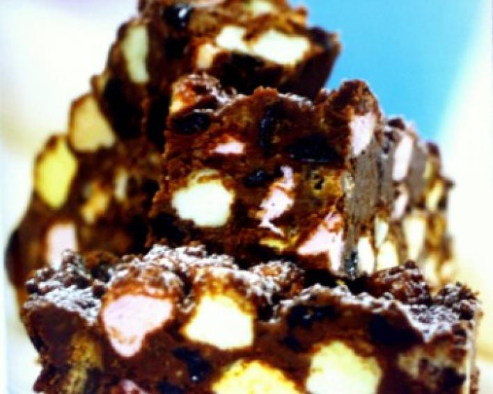 Mályvacukros brownie