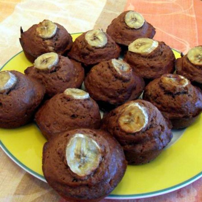 Csokis, banános muffin