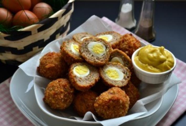 Mini skót tojások curry-s majonézzel