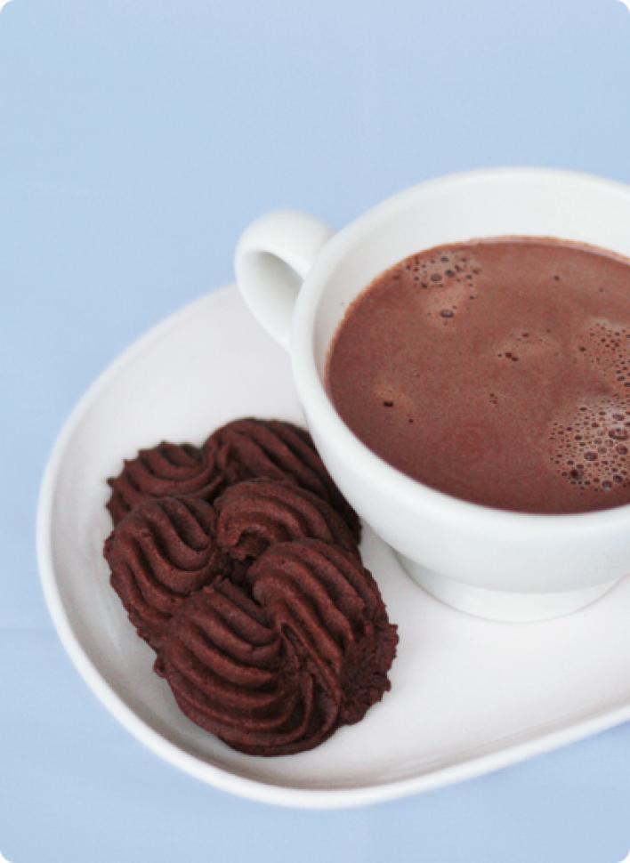 Francia csokis keksz