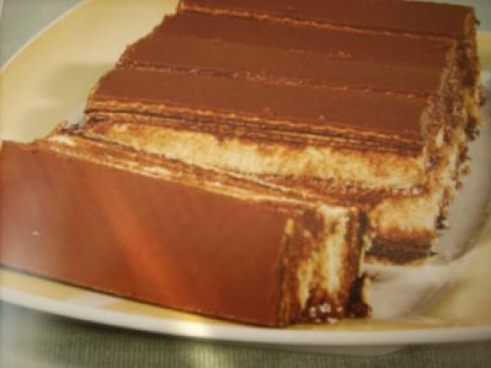 Piskótás ostyaszelet sütés nélkül