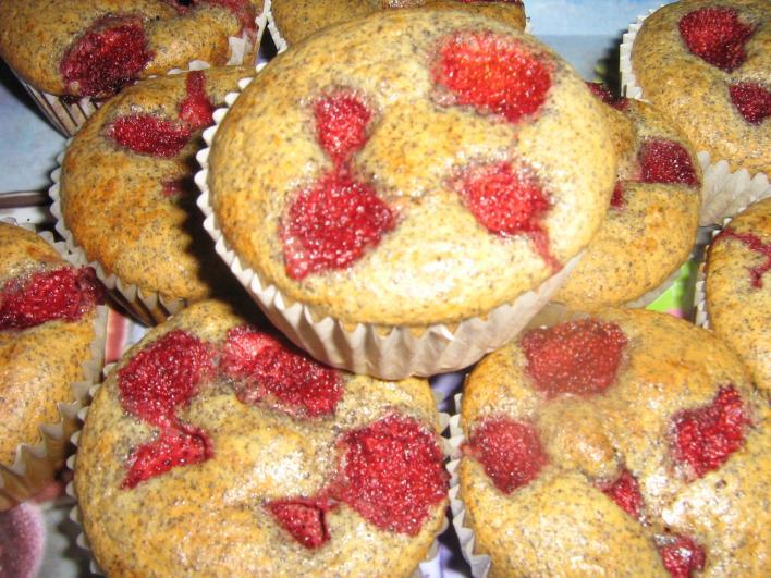 Epres, mákos muffin