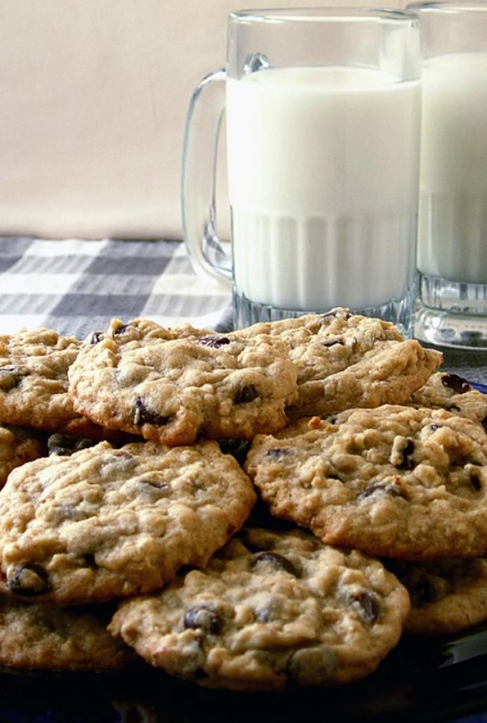 Csokis-zabpelyhes cookie