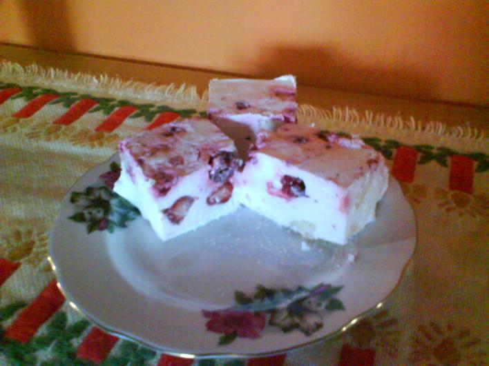 Joghurtos babapiskótás kocka (sütés nélkül)