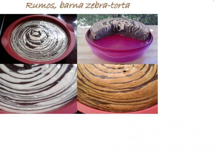 Rumos, barna zebratorta