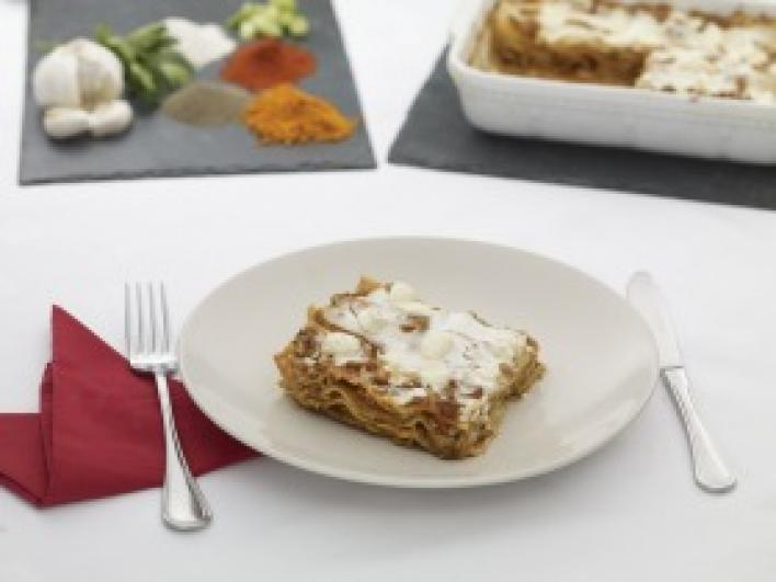 Ázsiai joghurtos lasagne