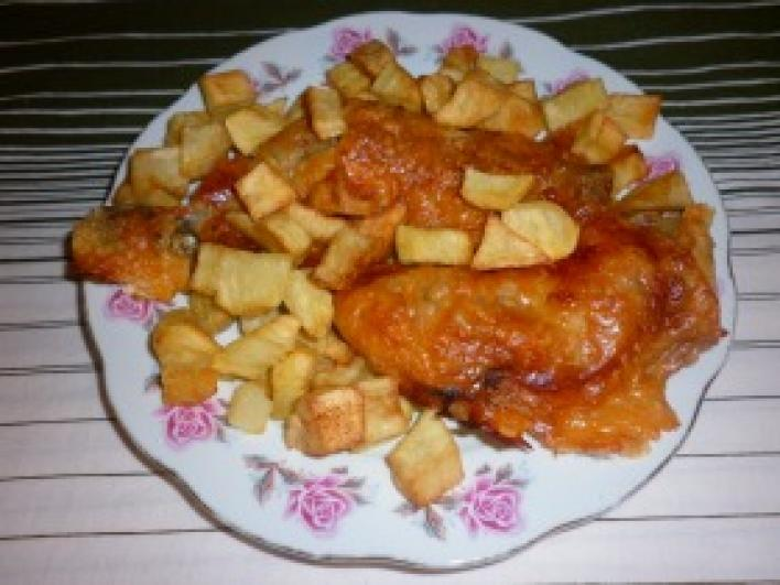 Sajtos-tejszínes csirkecomb