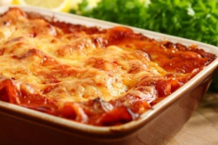 Pulykás  lasagne aszalt paradicsommal