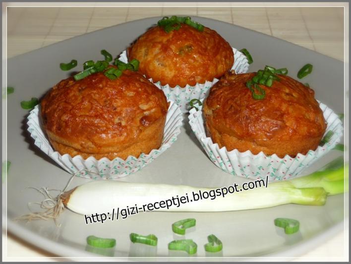 Baconos-újhagymás muffin