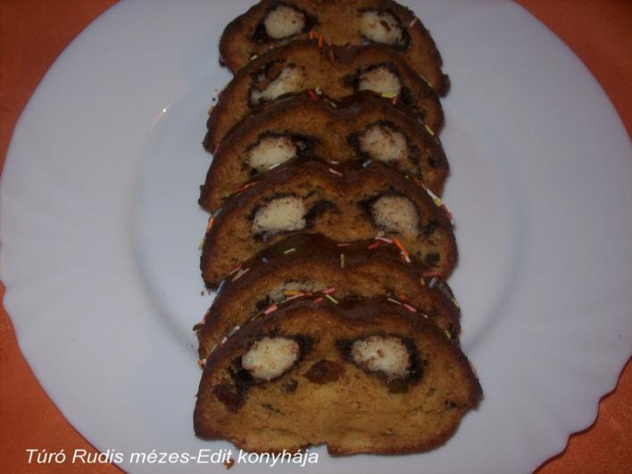 Túrós-csokis mézes