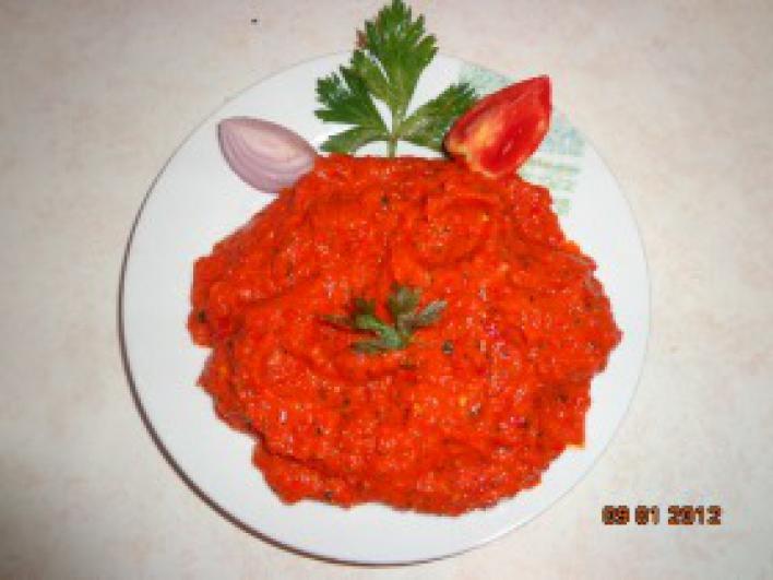Ajvár télire, horvát recept
