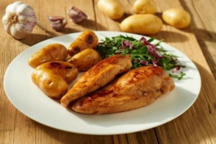 Mediterrán sült csirkemell