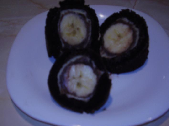 Csokis-banános tekercs