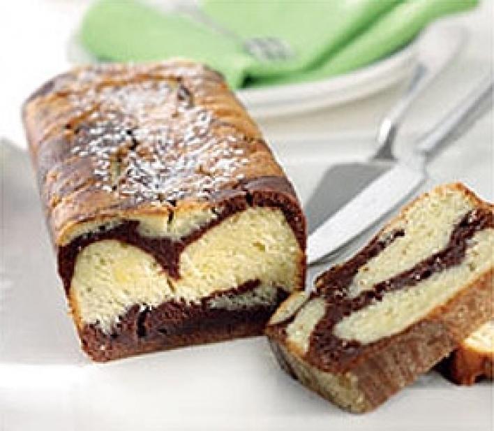 Csokoládés, márványos kenyér