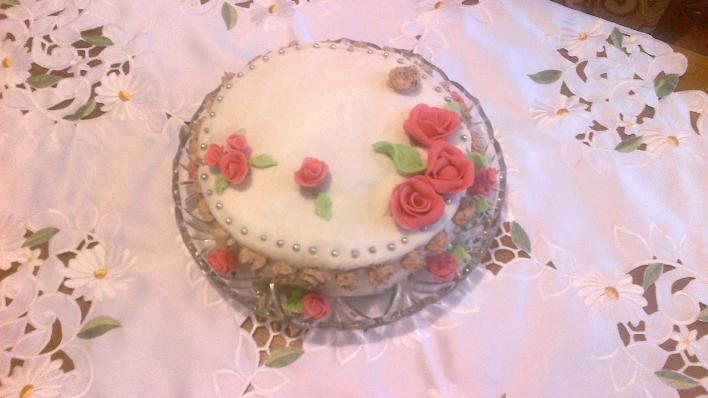 Csokikrémes fondant torta