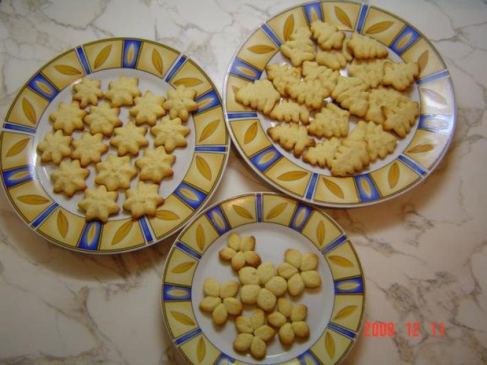 Csehszlovák formás keksz