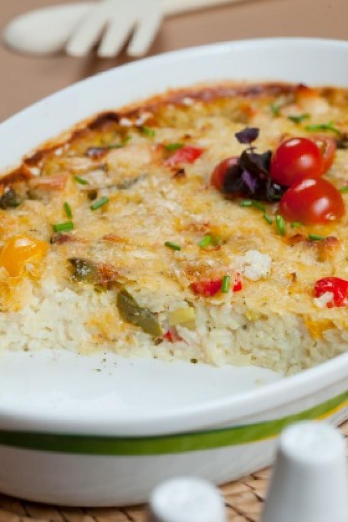 Görög paprikás sült rizs