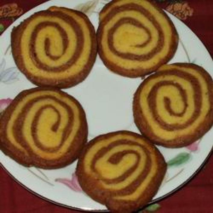 Fekete-fehér süti