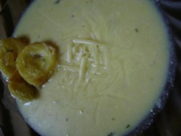 Sajtos kukorica krémleves