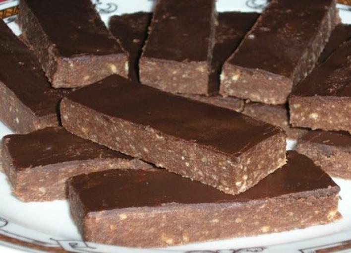 Csokis-rumos szelet