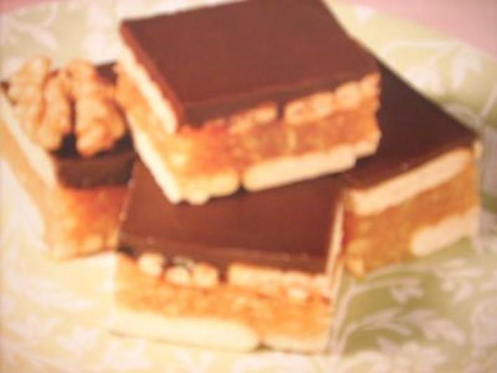 Almás-pudingos keksz (sütés nélkül)